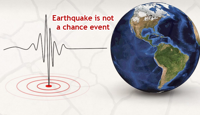 Earthquake is not a chance event
